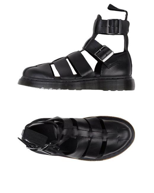 Dr. Martens Black Sandals