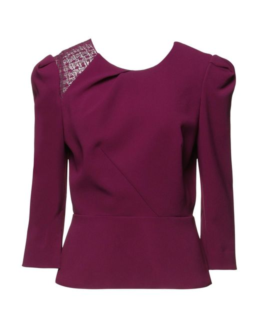 Blouse Roland Mouret en coloris Purple