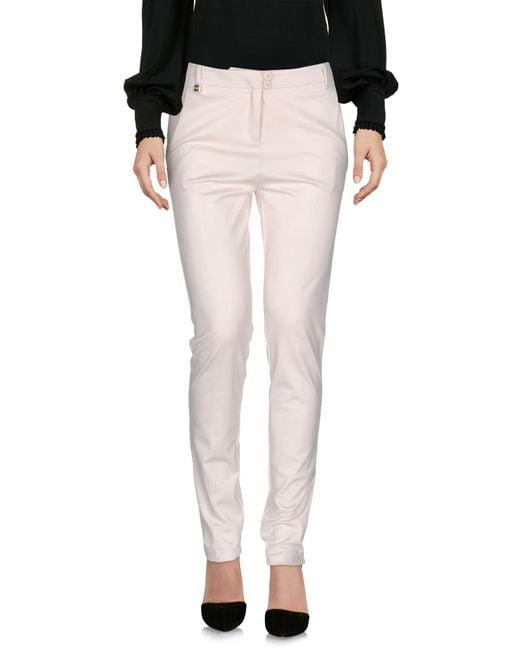 Pinko White Casual Trouser