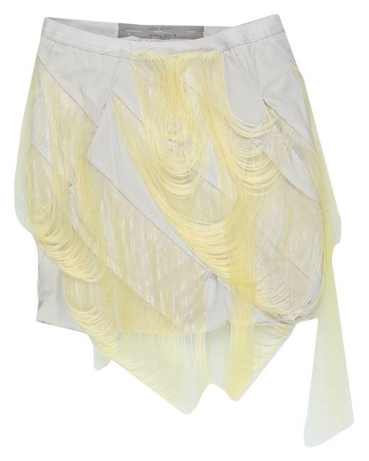 Mini-jupe Rick Owens en coloris Gray