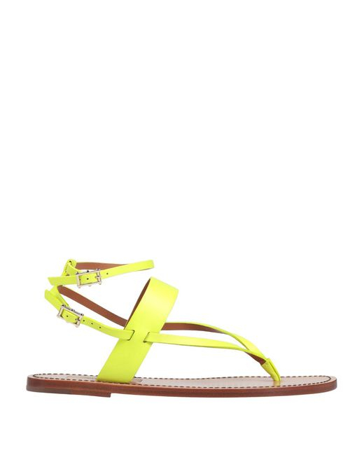 Valentino Garavani Yellow Toe Strap Sandal