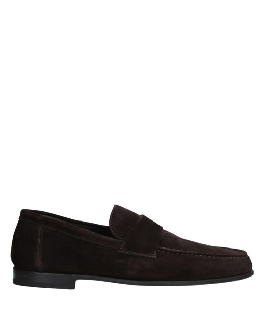 Santoni Black Loafer for men