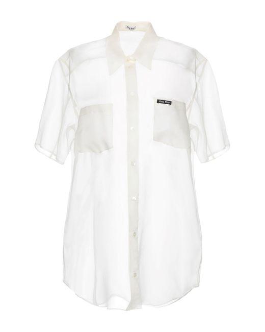 Miu Miu Camicia da donna di colore bianco