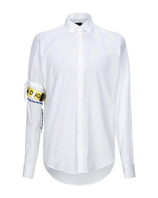 Camisa DSquared² de hombre de color White