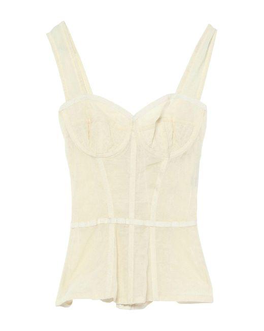 Dolce & Gabbana Top de mujer de color blanco Mkdaz