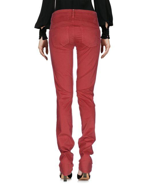 Liu Jo Red Casual Pants