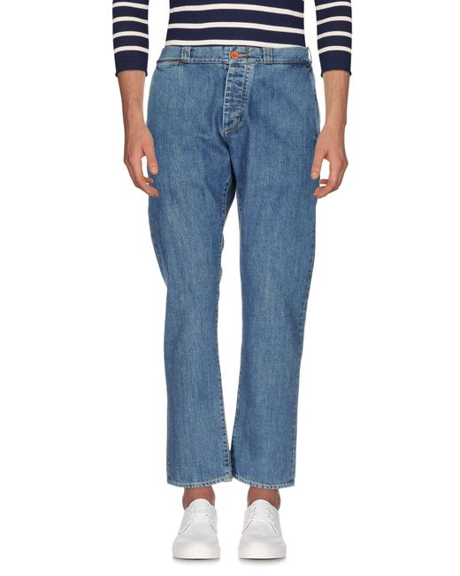 Bark - Blue Denim Trousers for Men - Lyst