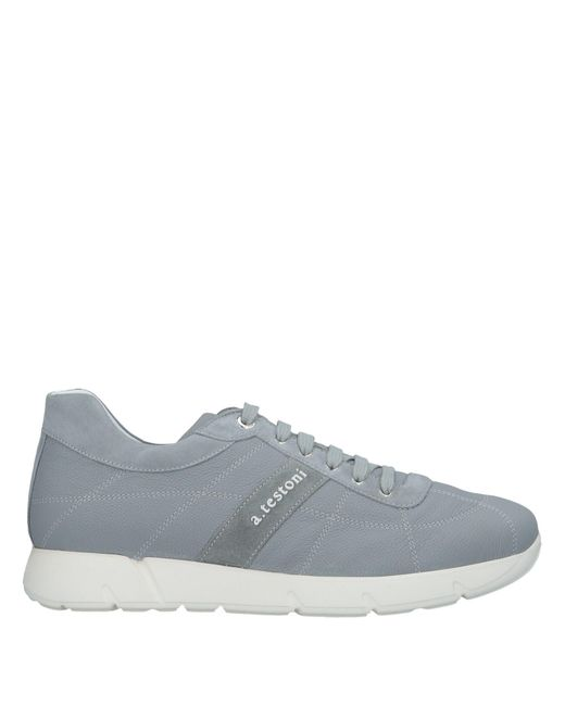 A.Testoni - Gray Low-tops & Sneakers for Men - Lyst