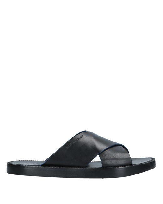 Burberry - Black Sandals for Men - Lyst