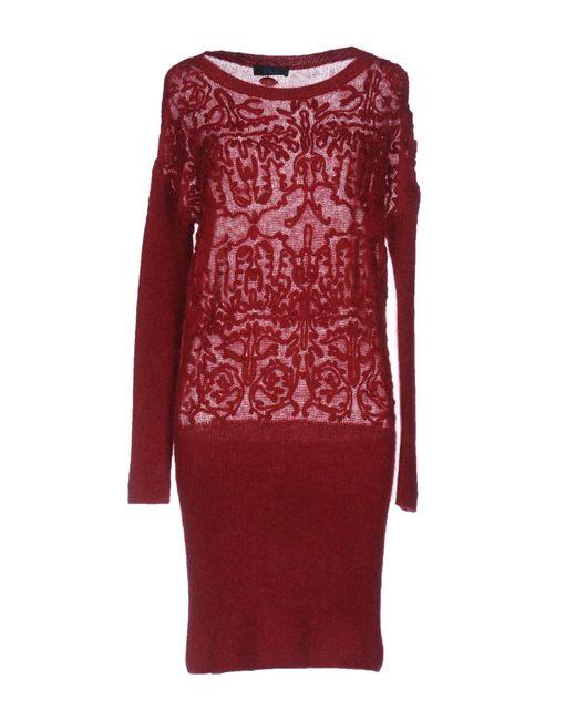 Twin Set - Red Short Dress - Lyst