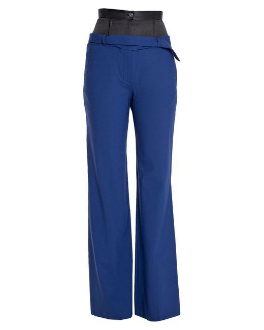 Yang Li Blue Casual Pants
