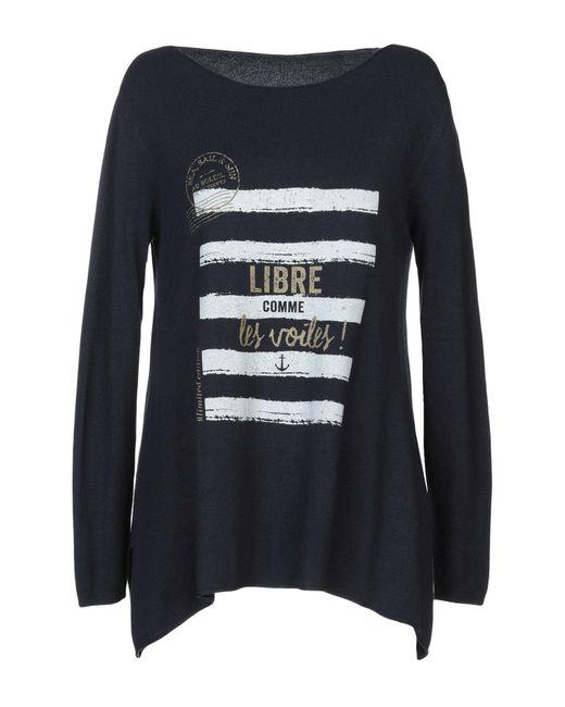 Au Soleil De Saint Tropez - Blue Pullover - Lyst
