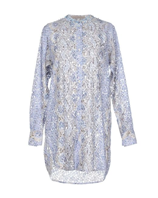 Ermanno Scervino Camisa de mujer de color azul we9zN
