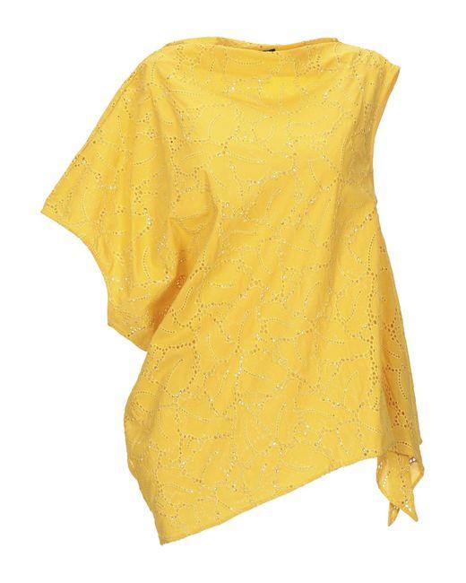 Brian Dales Blusa da donna di colore giallo