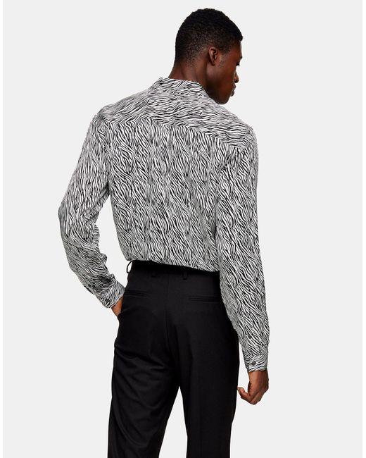 Camicia di Topman in White da Uomo