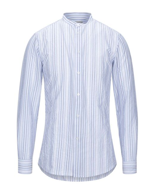 Camicia di Paolo Pecora in Blue da Uomo