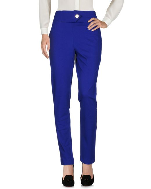 Class Roberto Cavalli Blue Casual Pants