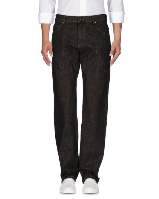 Marina Yachting - Brown Denim Trousers for Men - Lyst
