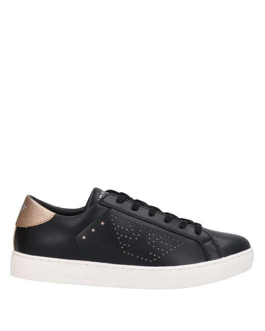 Emporio Armani Black Low Sneakers & Tennisschuhe