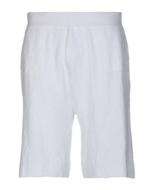 Roberto Collina - White Bermuda Shorts for Men - Lyst