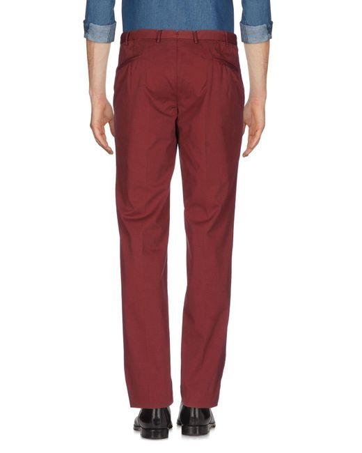 Boglioli Pantalon homme de coloris rouge