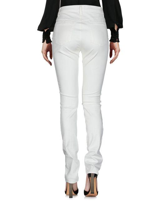 Pantalon Les Copains en coloris White