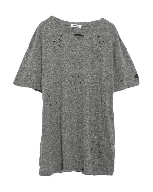 T-shirt di Replay in Gray da Uomo