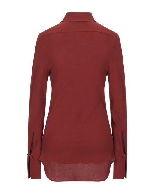 Chloé Camisa de mujer de color rojo oRC39