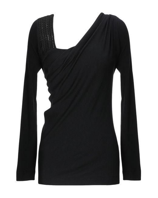 Alberta Ferretti Camiseta de mujer de color negro Ug0Xc