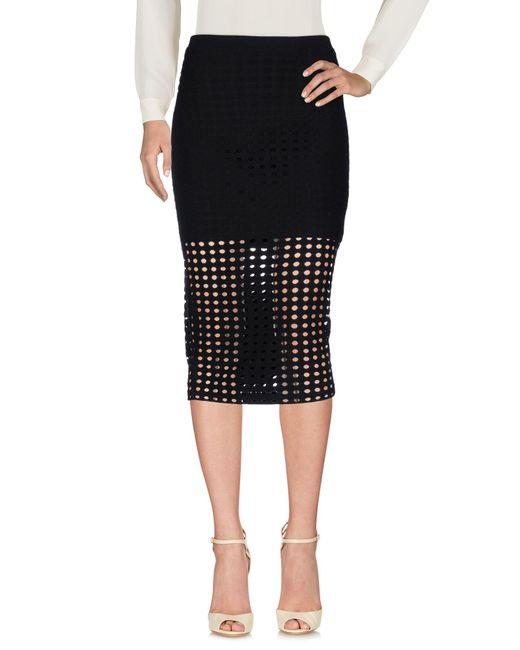 T By Alexander Wang Black 3/4 Length Skirt