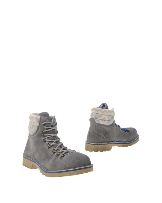 Lecrown   Gray Ankle Boots for Men   Lyst