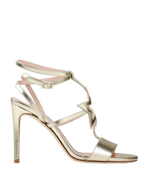 Alberto Gozzi - Metallic Sandals - Lyst