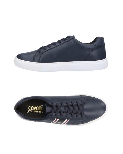 Class Roberto Cavalli - Blue Low-tops & Sneakers for Men - Lyst