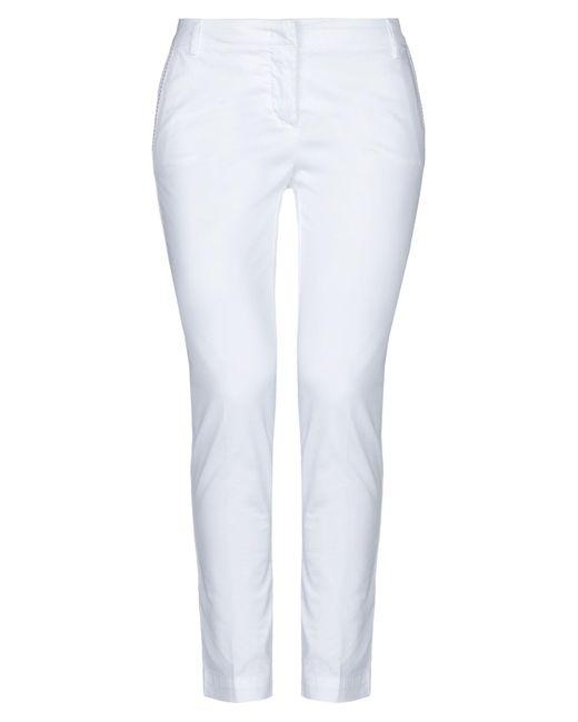 Manila Grace White Casual Trouser