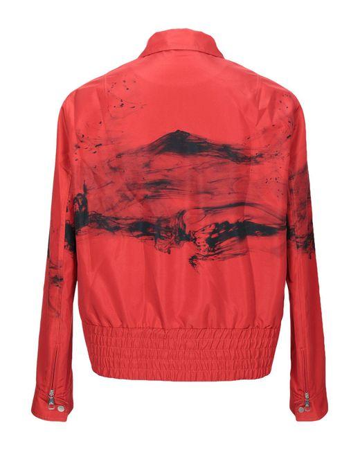 Neil Barrett Red Abstract Print Jacket for men