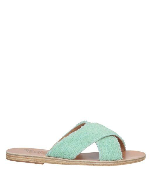 Ancient Greek Sandals Sandalias de mujer de color verde