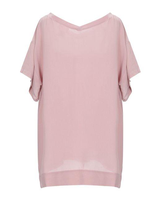 Ottod'Ame Blusa de mujer de color rosa u3pys