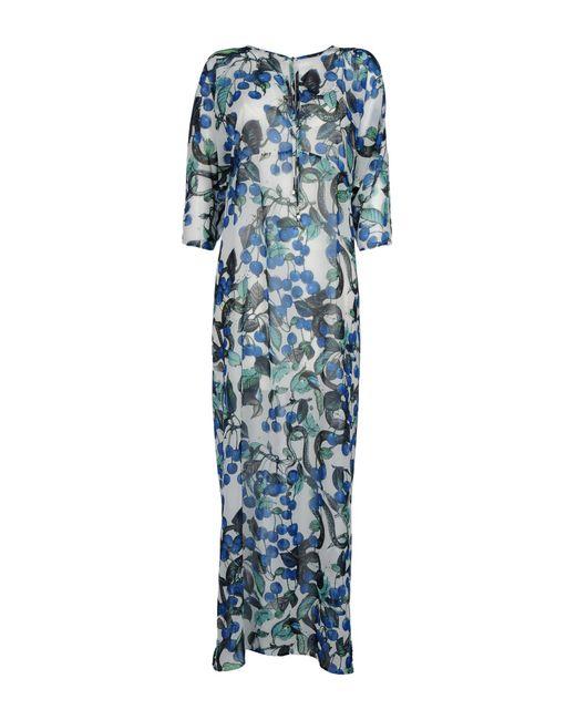 Daniela Fargion - Blue Long Dress - Lyst
