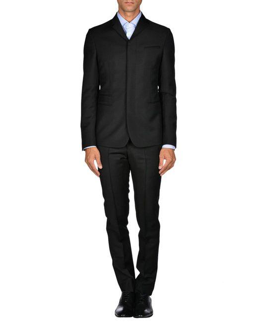 Emporio Armani - Black Suit for Men - Lyst