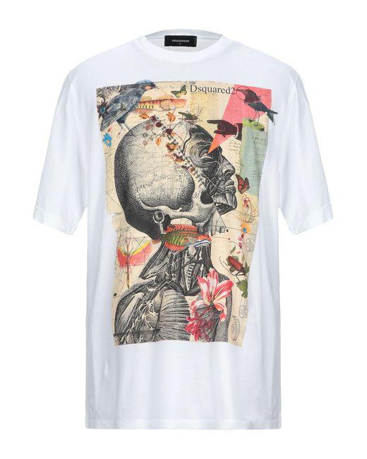 DSquared² T-shirt da uomo di colore bianco
