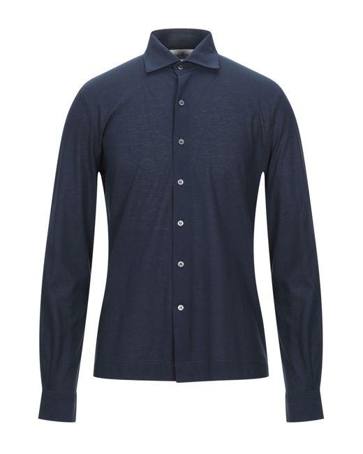 Della Ciana Camicia da uomo di colore blu