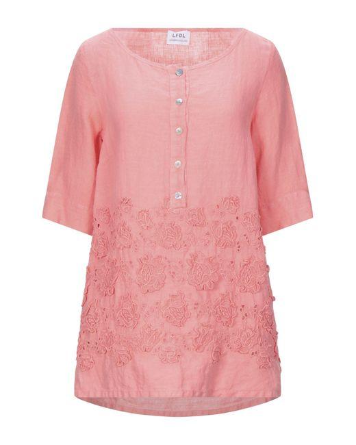 LFDL Blusa da donna di colore rosa