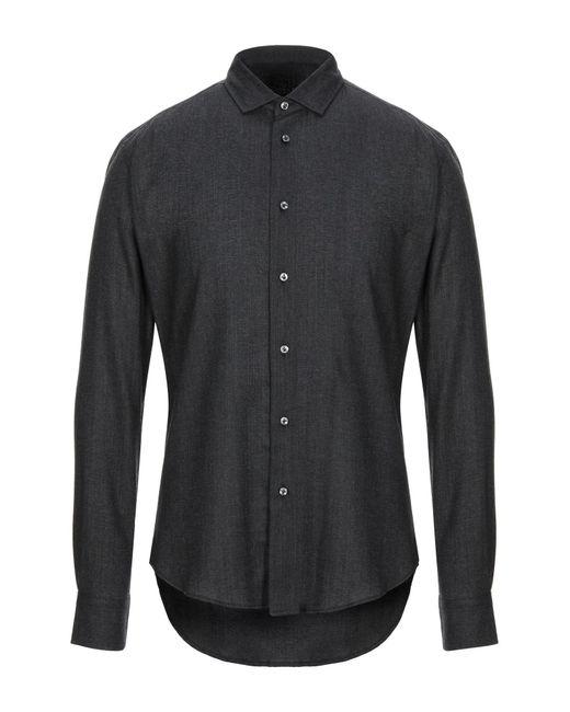 Brian Dales Camicia da uomo di colore grigio
