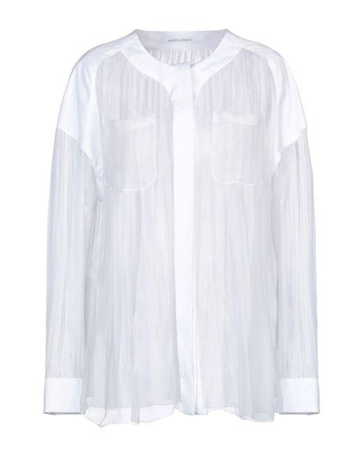 Alberta Ferretti Camisa de mujer de color blanco YvxIS