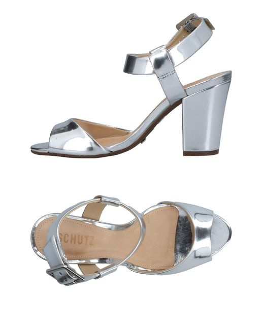 Schutz Metallic Sandals