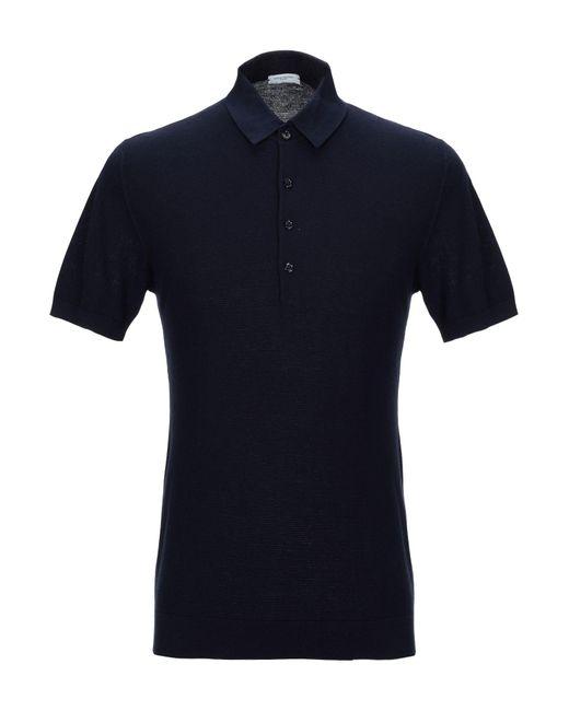 Paolo Pecora Pullover da uomo di colore blu
