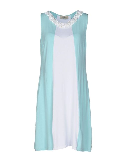 Just For You   Blue Short Dress   Lyst