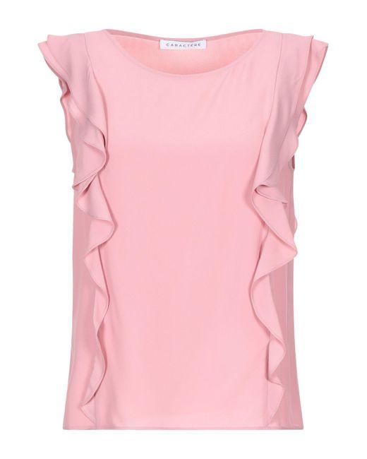 Caractere Top da donna di colore rosa