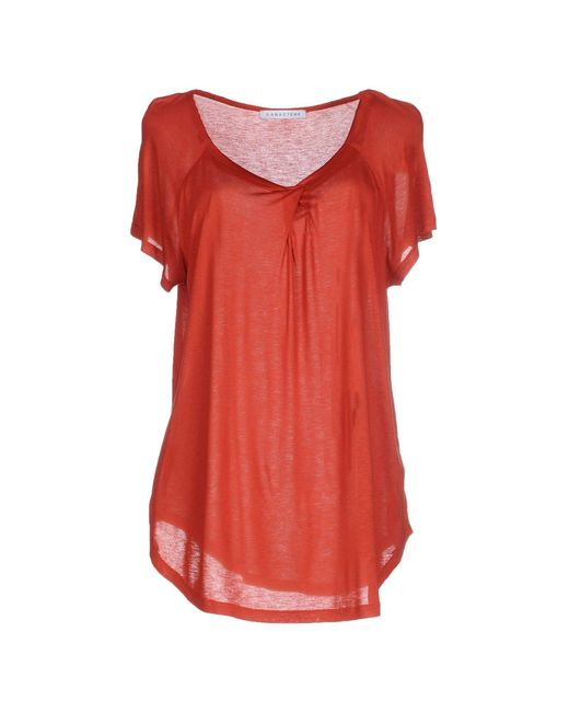 Caractere - Red T-shirt - Lyst