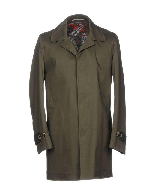 Exibit - Green Overcoat for Men - Lyst